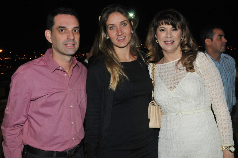 Maurício Ramires, Juliana Pagliato e Cláudia Stecca